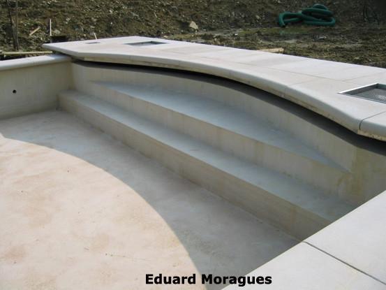 Eduard moragues piedra para el pavimento de piscinas en lleida - Piscinas de piedra ...