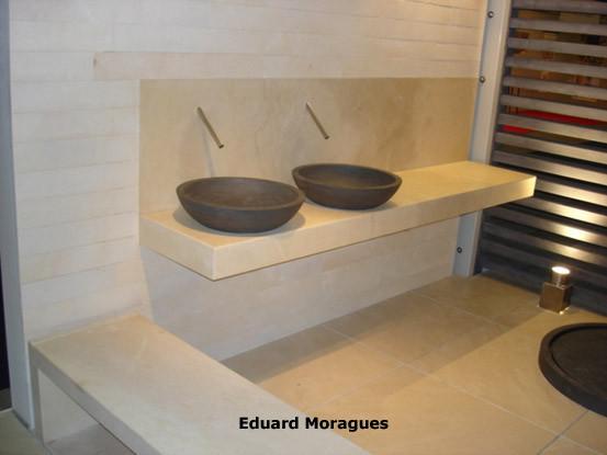 beautiful lavabos para bao de moragues encimeras de bao con mrmoles y piedras lavabos para bao de piedra with encimeras de marmol para lavabos