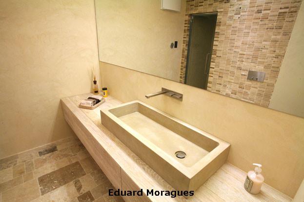 Eduard moragues encimeras de ba o con m rmoles y piedras - Lavabos de marmol para bano ...