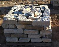 Taco de piedra de manpostería irregular