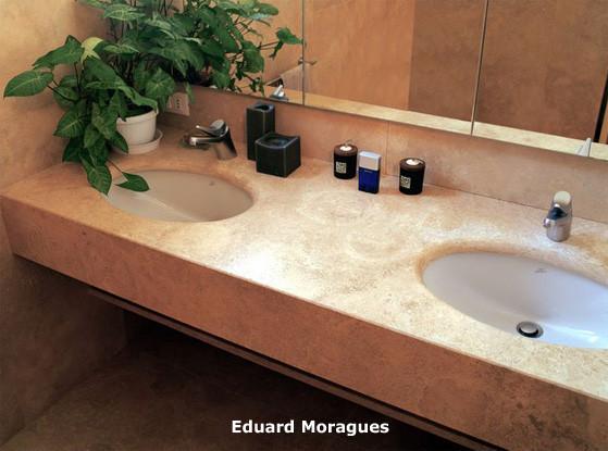 Eduard moragues encimeras de ba o con m rmoles y piedras for Encimeras de piedra precios