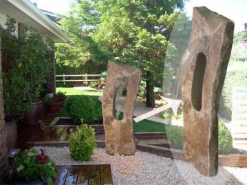 Fuente con piedra Natural, Fuente de piedra, Diseño de fuente de piedra