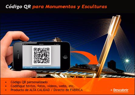 Fotoceramica con código QR para monumentos y ayuntamientos, Código QR para puentes, Código, QR