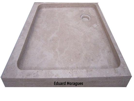 Eduard moragues platos de ducha de m rmol y piedra - Platos de ducha de silestone ...
