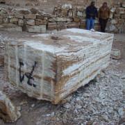 bloque de onix maya en cantera