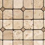 combinación mosaico travertinos