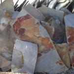 pizarra oxidada irregular en laja