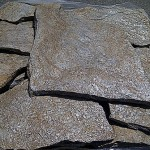 cuarcita marrón irregular en laja